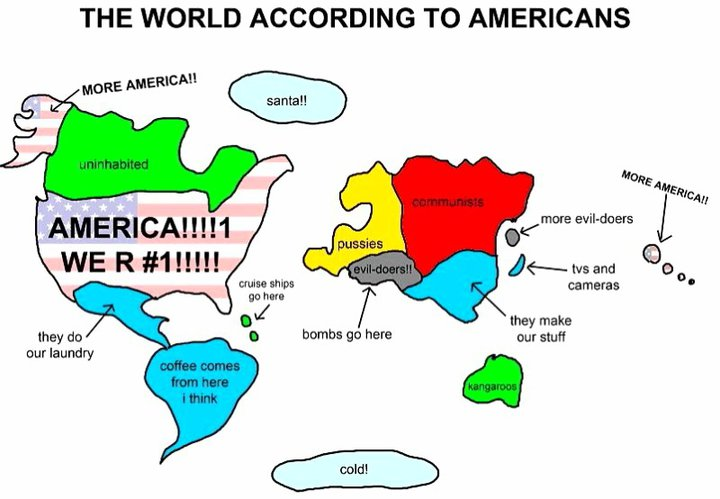 he world according to americans