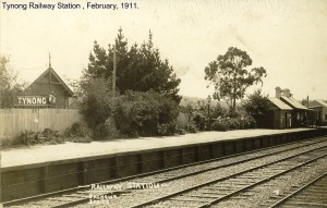 Tynong Railway Station, February, 1911
