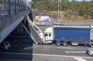 Brisbane  truck up rear of truck