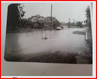 Campbell St. Bluff in flood