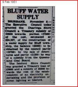 Capture  Bluff water
