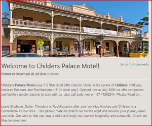 Childers where we stayed