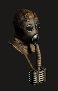 A gas mask in the game
