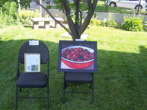 Art displayed at the Baillie house File Photo. KDG